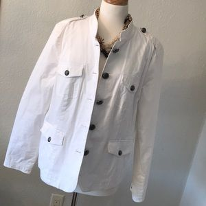 Like new white lined jacket